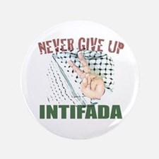 "3.5"" Button 'NEVER GIVE UP'"