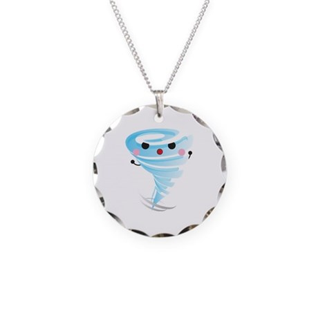 Sweet tornado Necklace Circle Charm