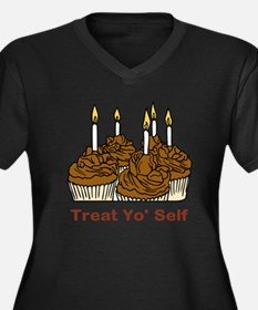 Cupcakes Women's Plus Size V-Neck Dark T-Shirt