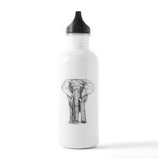 Elephant Drawing Water Bottle
