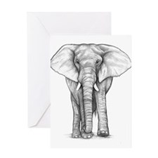 Elephant Drawing Greeting Card
