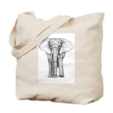Elephant Drawing Tote Bag