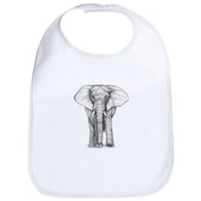 Elephant Drawing Bib