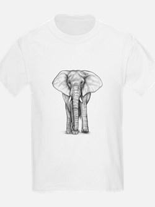 Elephant Drawing T-Shirt