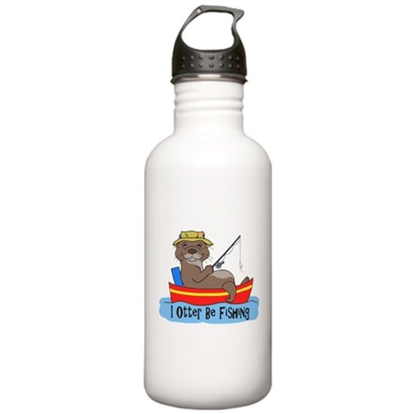 I Otter Be Fishing Stainless Water Bottle 1.0L
