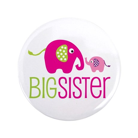 "Big Sister Elephant 3.5"" Button (100 pack)"