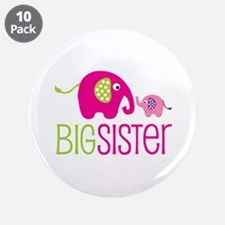 "Big Sister Elephant 3.5"" Button (10 pack)"
