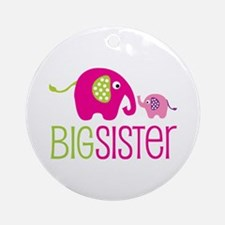 Big Sister Elephant Ornament (Round)