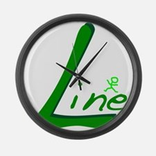 Line Large Wall Clock