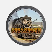 Steamtown Train Photo - Wall Clock