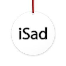 iSad Black - Ornament (Round)