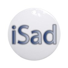 iSad Cool Blue - Ornament (Round)