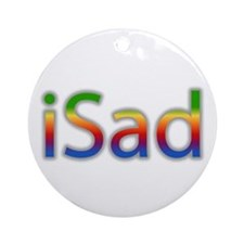 iSad Rainbow - Ornament (Round)