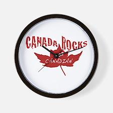 Canada Rocks Wall Clock