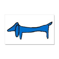 Blue Dachshund Car Magnet 20 x 12