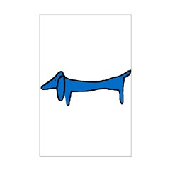 Blue Dachshund Posters