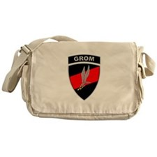 GROM - Red and Black w Tab Messenger Bag