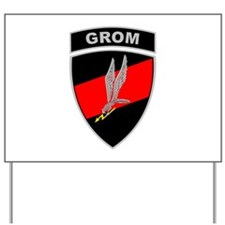 GROM - Red and Black w Tab Yard Sign