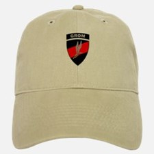 GROM - Red and Black w Tab Baseball Baseball Cap