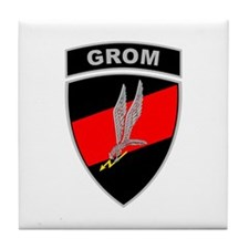 GROM - Red and Black w Tab Tile Coaster