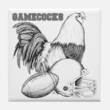 Gamecock Football Collage Tile Coaster
