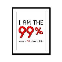 I am the 99% Framed Panel Print