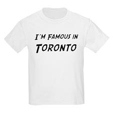 Famous in Toronto Kids T-Shirt