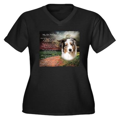 """""""Why God Made Dogs"""" Australian Shepherd Women's Pl"""