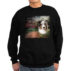 """Why God Made Dogs"" Australian Shepherd Sweatshirt"