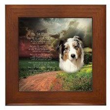 """Why God Made Dogs"" Australian Shepherd Framed Til"