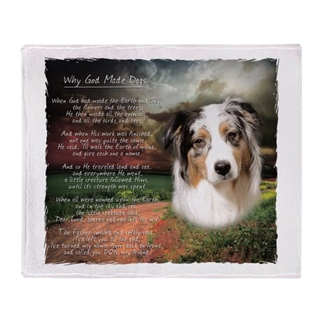 """Why God Made Dogs"" Australian Shepherd Stadium B"