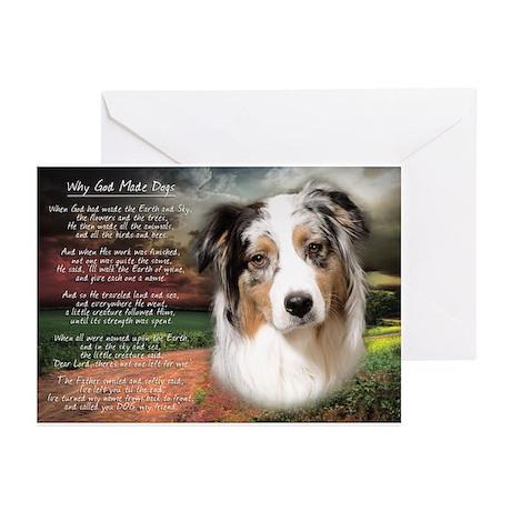 """Why God Made Dogs"" Australian Shepherd Greeting C"