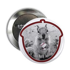 """St Louis RALLY SQUIRREL 2.25"""" Button"""