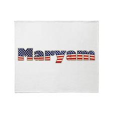 American Maryam Throw Blanket