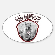 RALLY SQUIRREL Go Nuts St Louis Sticker (Oval)