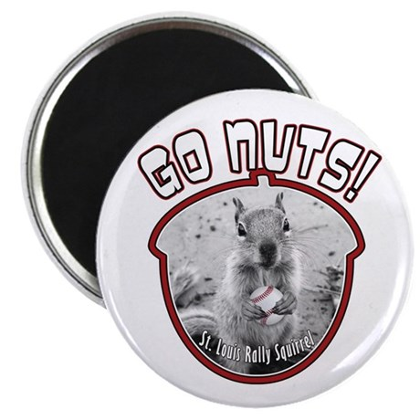 RALLY SQUIRREL Go Nuts St Louis Magnet