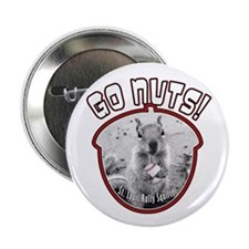 """RALLY SQUIRREL Go Nuts St Louis 2.25"""" Button"""