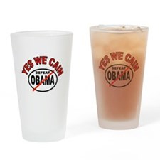 YES WE CAIN WIN Drinking Glass