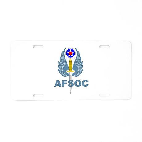 AFSOC (1) Aluminum License Plate