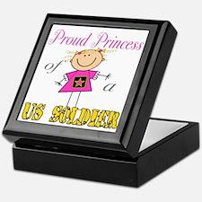 Proud Princess of Soldier Keepsake Box