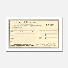 Compton Business License Car Magnet 20 x 12