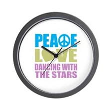 Peace Love Dancing With The Stars Wall Clock