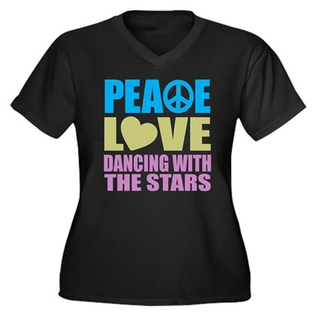 Peace Love Dancing With The Stars Women's Plus Siz