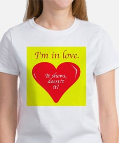 I'm in love. It shows doesn't it. Tee