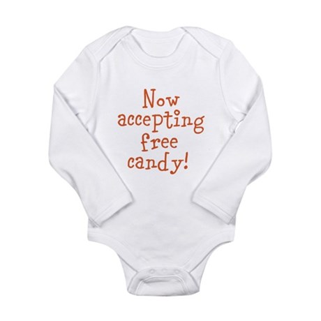 Now Accepting Free Candy Long Sleeve Infant Bodysu