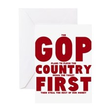 GOP Country Flush Greeting Card