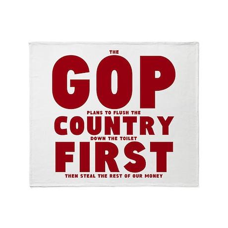 GOP Country Flush Throw Blanket