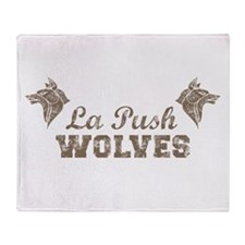 Twilight La Push Wolves taupe Throw Blanket