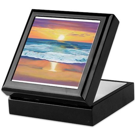 Marine Street Sunset Keepsake Box