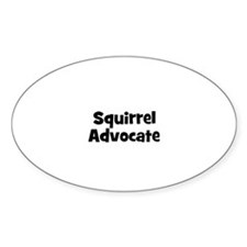 Squirrel Advocate Oval Decal